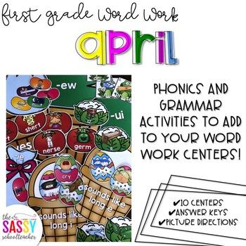 First Grade Word Work April