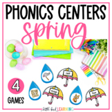 Spring Phonics Games and Centers - Level 1