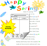 Spring Poem and Activity