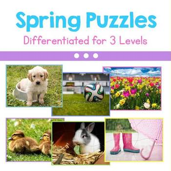 Spring Photo Puzzles - Differentiated