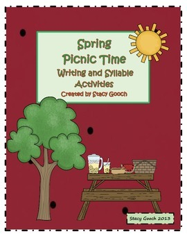 Spring Picnic Time Writing and Syllable Sort