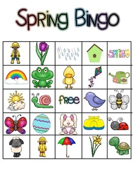 Spring Picture Bingo!
