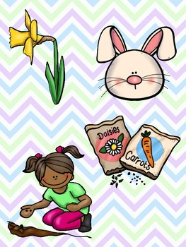 Spring Picture Match File Folder Game