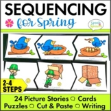 Spring Picture Sequencing Activities with Story Retell & Writing