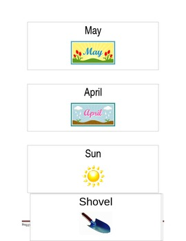 Spring Picture Vocabulary Cards