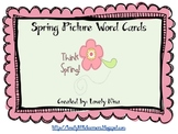 Spring Picture Word Cards