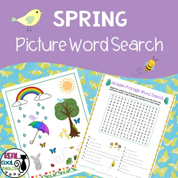 Spring Picture Word Search