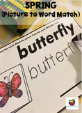 Spring Picture to Word Match (Match, Trace and Write)