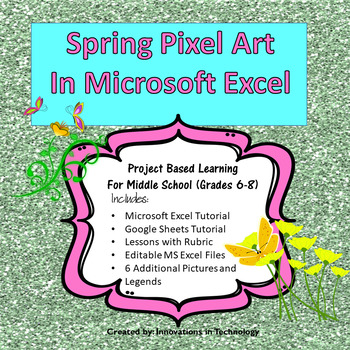 Spring Pixel Art in Microsoft Excel or Google Sheets