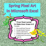 Spring Pixel Art in Microsoft Excel or Google Sheets | Distance Learning