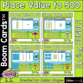 Spring Place Value Boom Card Bundle - To 30, 50, 120, and 500