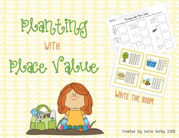 Spring Place Value Count/Write the Room