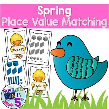 Easter Math - Place Value Matching