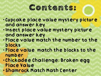 Spring Place Value activities, Math Centers and Mystery Pictures
