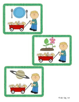 "Spring Plants/Garden theme: ""pl"" word blend read, write, stamp activity"