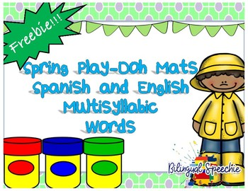 Spring Play-Doh Mat for Multi-syllabic Words