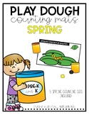 Spring Play Dough Counting Mats