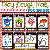 Spring Play Dough Mats --- Six Picture Mats and Ten Ladybug Counting Mats 1-10