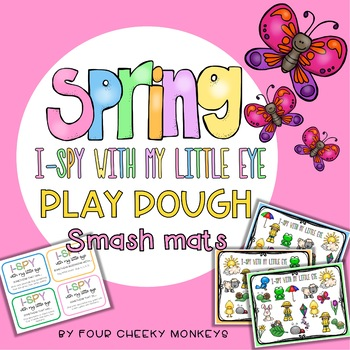 Spring Play Dough Smash Mats