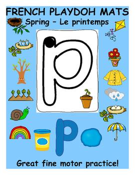 Spring Playdoh Mats - French version