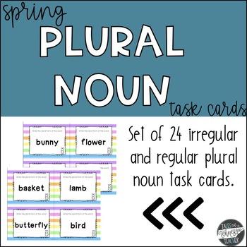 Spring Plural Noun Task Cards