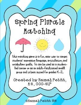 "Spring Plural ""S"" Matching: Spanish"
