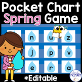 Spring Pocket Chart Game: Numbers 1-20, Alphabet & Sight Words