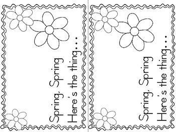Spring Pocket Chart Poem and Reader Set