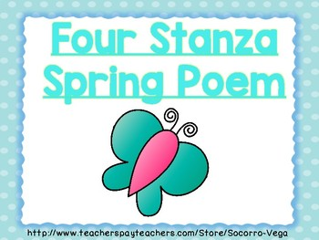 Spring Poem: Aligned to L.3.1 & R.3.5