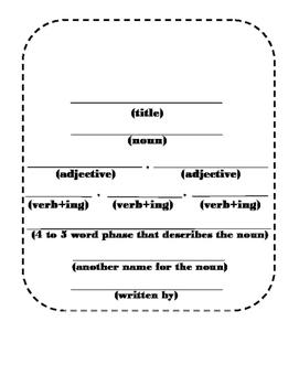 Spring Poem Cinquain Writing Craft (Parts of Speech)