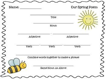 Spring Poem FREEBIE!