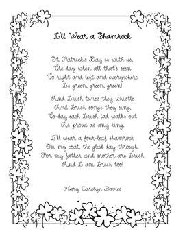 Spring Poem: I'll Wear a Shamrock