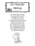 Spring Poem: It's Time for Spring