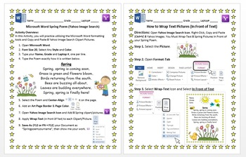 Spring Poem Microsoft Word Activity Yahoo Image Search Wrap Text Windows 8/8.1