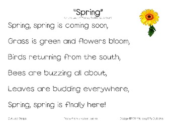 Spring poem pack by dillydabbles teachers pay teachers spring poem pack mightylinksfo