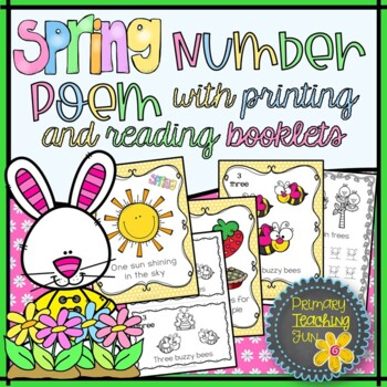 Spring Poem Slide Show and Counting and Printing Booklet