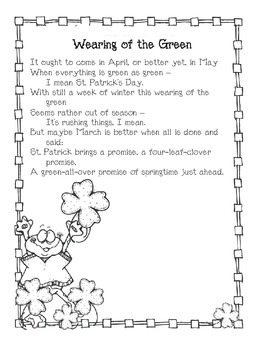 Spring Poem: Wearing of the Green