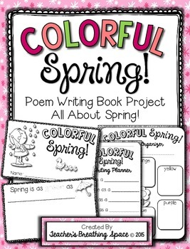 """Spring Poem Writing --- """"Colorful Spring"""" Book and Poem --"""