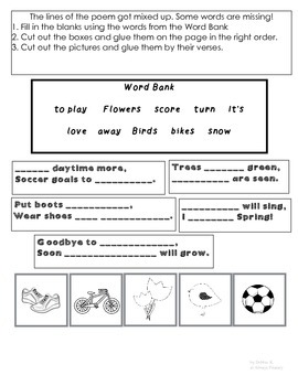 Spring Poem and Activities