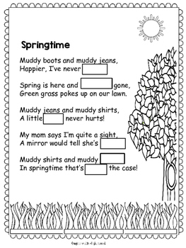 Spring Poem for Shared Reading