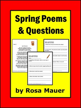 Spring Poetry 10 Poems with Comprehension Questions