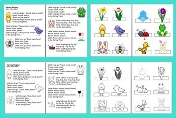 Spring Activities: Songs, Poems, and Finger Puppets!