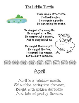 Spring Poems: The Little Turtle & April