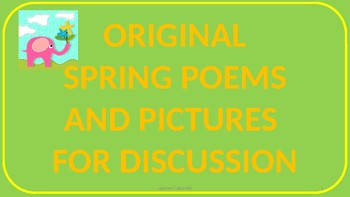 Spring Poems and Discussions