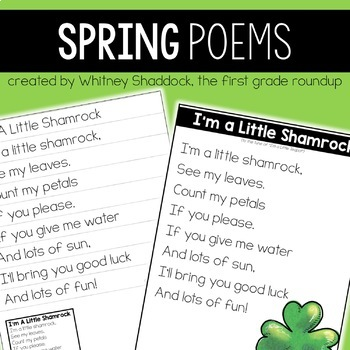 Spring Poems of the Week for Shared Reading