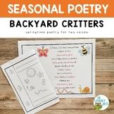 Poetry: Spring | Poems Fluency Practice Literacy Activitie