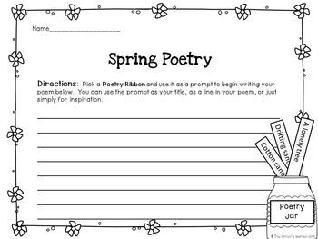 Spring Poetry: 36 Poetry Prompt Ribbons