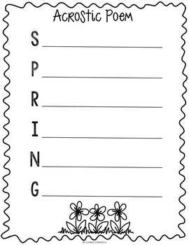 Spring Poetry Book