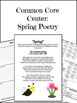 Spring Poetry Center CCSS Aligned