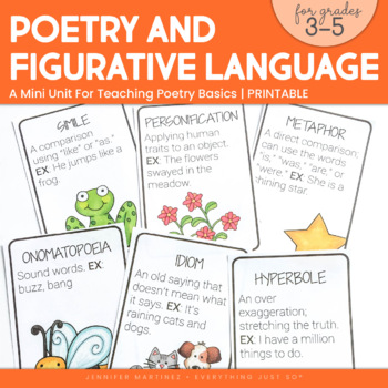 Poetry and Figurative Language Mini-Unit
